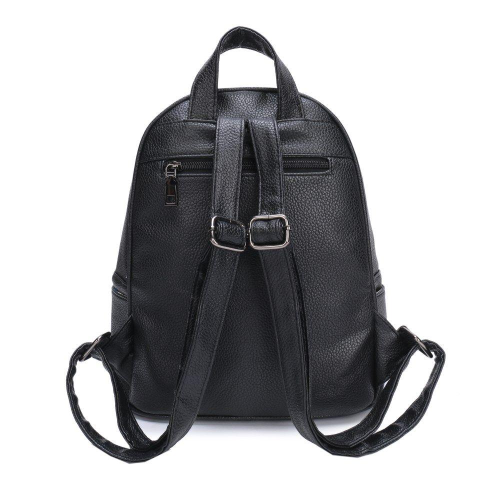 fbb125acfa32 Купить стильный рюкзак Ors Oro для девушек из экокожи украшенный значками в  интернет-магазине GRIZZLY в Москве