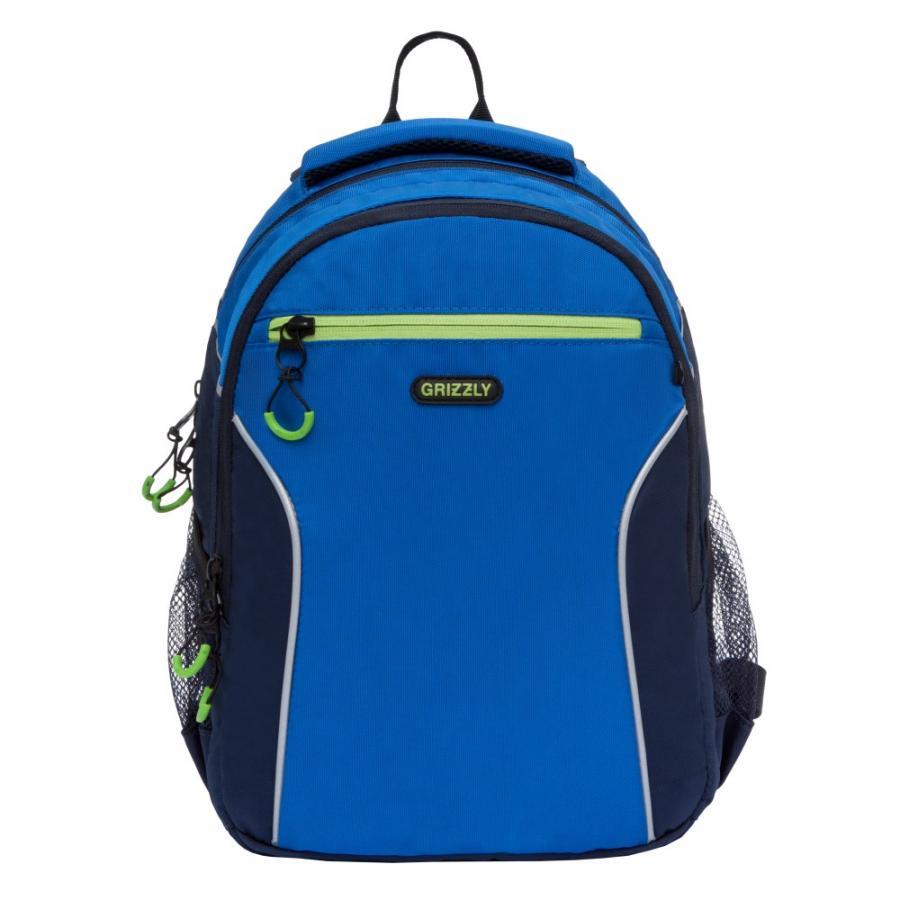 81500864394a Купить рюкзак для школы мальчику с двумя отделениями и анатомической  спинкой в интернет-магазине GRIZZLY в Москве