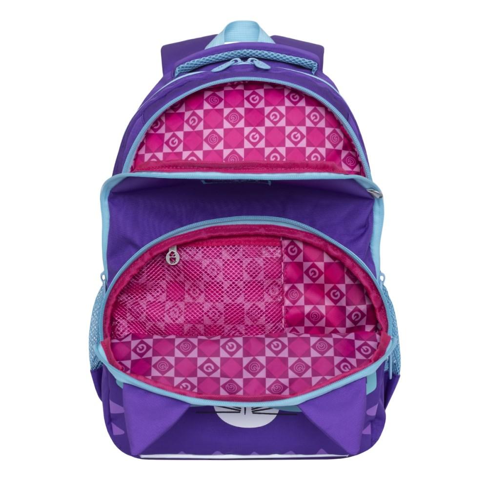 e095f23e476d Купить рюкзак в школу для девочки 3-5 класс с карманом для гаджетов и  держателем для карты в интернет-магазине GRIZZLY в Москве