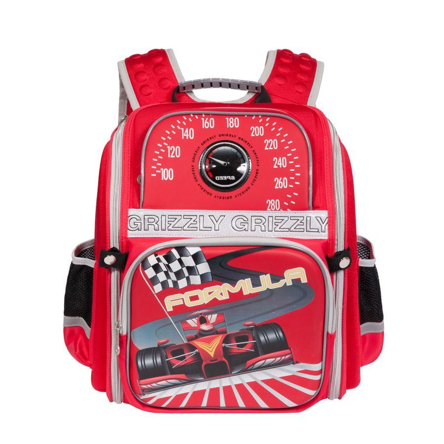 Рюкзак гризли grizzly м18.красный школьный рюкзак для девочки динь динь