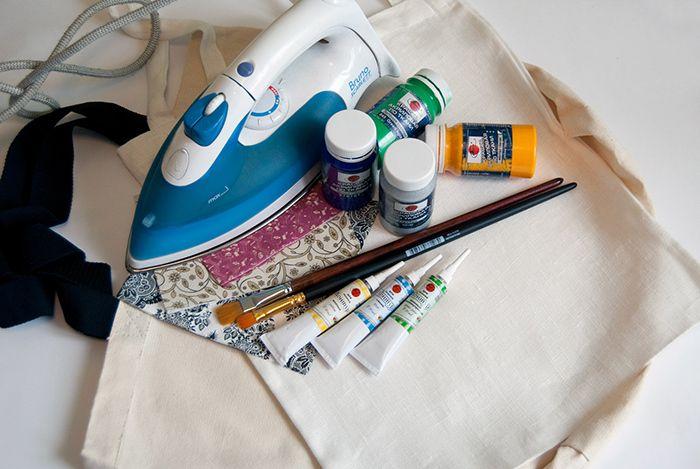 Роспись сумок акриловыми красками