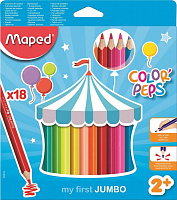 834012 Карандаши Maped цветные COLOR PEP'S JUMBO